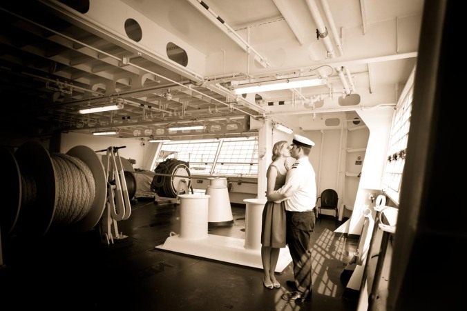 cruise ship wedding pre-shoot
