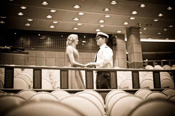 cruise ship Ventura engagement shoot