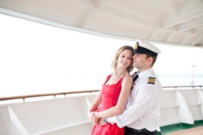 cruise ship engagement shoot