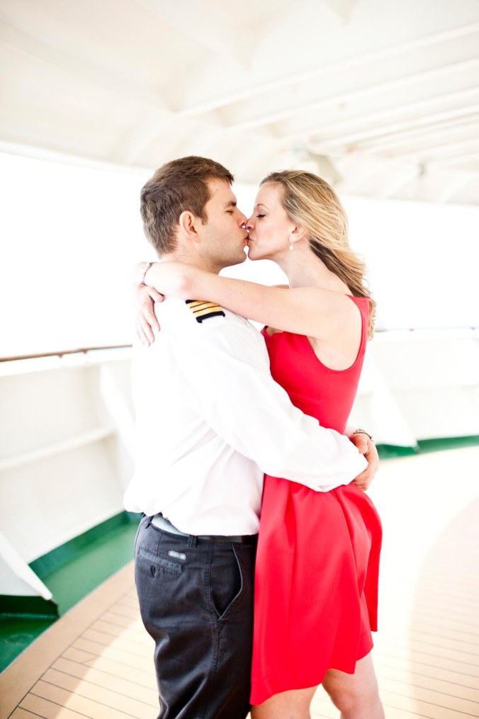 love on a cruise ship; engagement