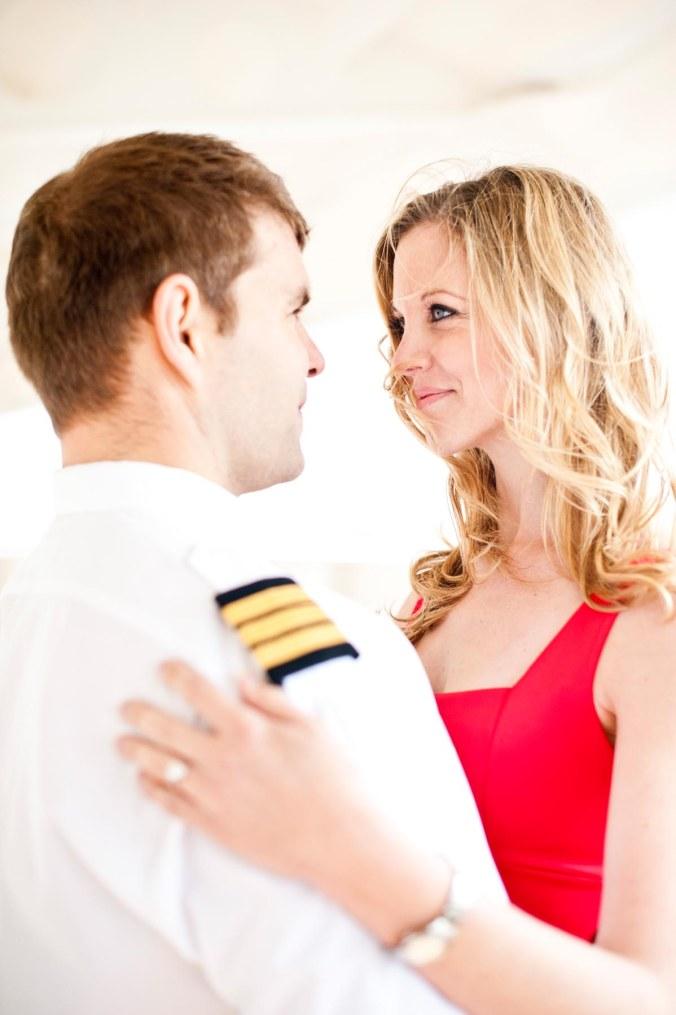 wedding pre-shoot cruise ship; engagement