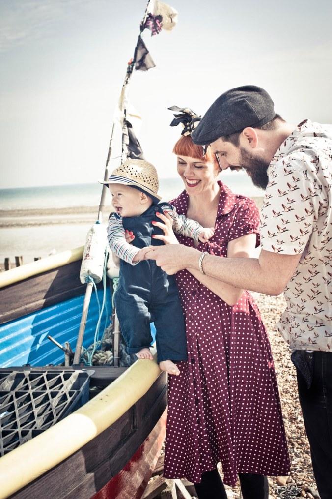 brighton beach portraits; 50's style familiy