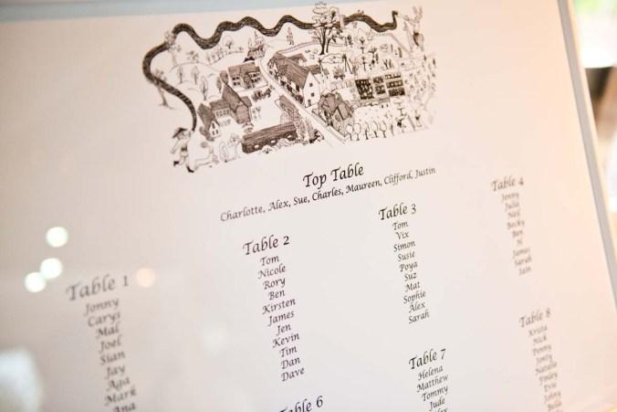 table plan; olde bell inn; hurley